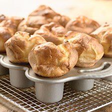 Popover Pan, Popover Recipe, Bread Recipes, Cooking Recipes, Thyme Recipes, Pizza Recipes, Sweet Butter, Honey Butter, Planning Menu