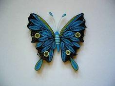 Papillon en quilling (petites bandes de papier)