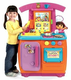 Toys games pretend play on pinterest play kitchens for Little girl kitchen playset