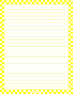 Printable yellow and white checkered stationery and writing paper. Multiple versions available with or without lines. Free PDF downloads at http://stationerytree.com/download/yellow-and-white-checkered-stationery/