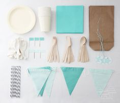 teal party box by nice party #kids party