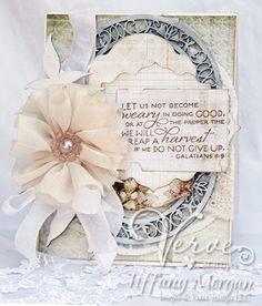 Tiffanys Paper Designs: Verve card. Galatians 6:9