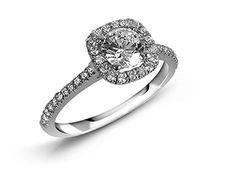 Jeff Cooper 14K WG Halo Engagement Ring