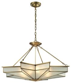 Elk Lighting Decostar Collection 8 Light Pendant In Brushed Brass - 22013/8 modern-pendant-lighting