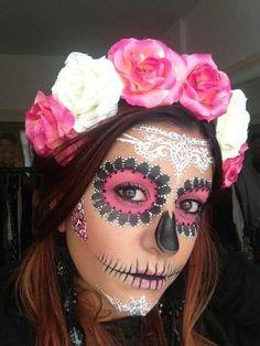 sugar skull halloween makeup on we heart it