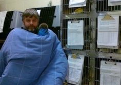Animal Shelter Owner gives his all in the snow.