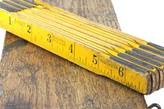 Vintage Yellow and Black Folding Carpenter's Ruler - 6 Feet Master Rule Mfg. Co. Inc.