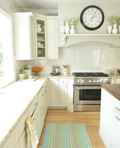 cg white kitchen range wall