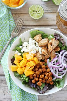 roasted chickpea, chicken, mango and feta salad with cumin lime dressing + 4 other delicious meals in this week's meal plan.