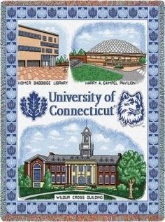 University Conn Collage (Tapestry Throw)