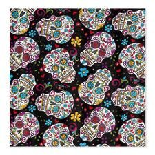 Funky Black Sugar Skulls Shower Curtain Skull Curtains Fabric