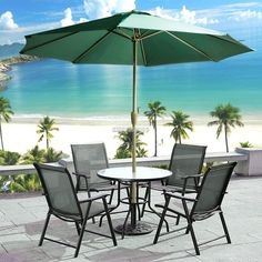 Details About 9ft Steel Patio Outdoor Umbrella Folding Awning Sunshade  Oxford Beach Market