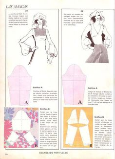 any kind of sleeves pattern alt Techniques Couture, Sewing Techniques, Pattern Cutting, Pattern Making, Sewing Tutorials, Sewing Projects, Clothing Patterns, Sewing Patterns, Sewing Sleeves