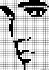 29 ideas embroidery portrait perler beads for 2019 Bead Loom Patterns, Perler Patterns, Beading Patterns, Cross Stitch Charts, Cross Stitch Embroidery, Cross Stitch Patterns, Corner To Corner Crochet, Graph Paper Art, Motifs Perler