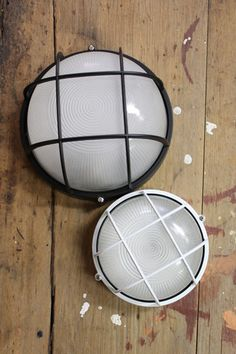 Caged Bunker Light - Round - vintage industrial style from Fat Shack Vintage - Fat Shack Vintage - Fat Shack Vintage Black Outdoor Wall Lights, Outdoor Wall Lighting, Outdoor Walls, Front Door Lighting, Facade Lighting, Industrial Style Lighting, Exterior Wall Light, Display Homes, Glass Diffuser