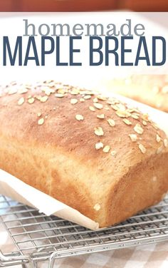 Maple bread is an easy bread recipe that you can make at home. The aroma of this fresh bread is worth the effort alone! Perfect for sandwiches, french toast, and morning toast for breakfast. Make maple croutons for your Thanksgiving turkey too! Best Thanksgiving Recipes, Thanksgiving Turkey, Easy Bread Recipes, Cooking Recipes, Brunch Recipes, Sweet Recipes, Easter Hot Cross Buns, Oatmeal Bread, Fresh Bread
