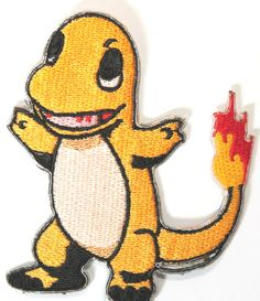 Charmander Patch Fire Pokemon Embroidered Iron on by PatchEire