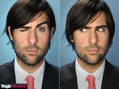 JASON SCHWARTZMAN photo | Jason Schwartzman.  These combos would be fun for superlatives.  Or maybe a question about personalities or something with the quote or caption underneath?