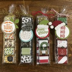 Created some treats for the Holiday Boutique this Saturday, November 11 from at hosted by Dotted Line Promotions &… Christmas Candy Gifts, Christmas Craft Show, Christmas Paper Crafts, Homemade Christmas Gifts, Christmas Tag, Christmas Projects, Xmas Gifts, Holiday Crafts, Christmas Treat Bags