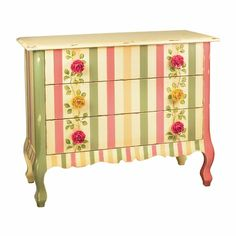 Love that the dresser pulls are roses!