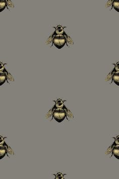 Timorous Beasties Wallcoverings - Napoleon Bee wallpaper