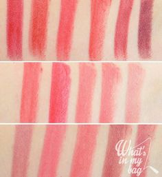 Shiseido Rouge Rouge: Rouge Copper, Real Ruby, Liason, First Bite, Boodstone, Rouge Rum Punch, Toffee apple, Poppy, Murrey, Coral Shore, Hushed Tones, Sweet Desire, Burning Up, Crime of passion, Rose Crush, Red Queen.