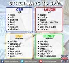 Other ways to say ....