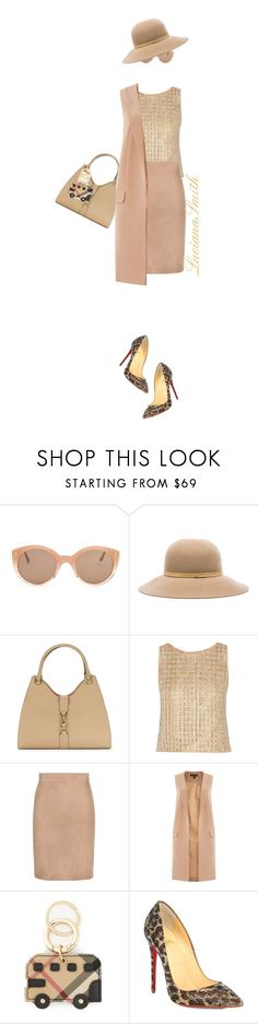 """""""Nude"""" by lucianasmith ❤ liked on Polyvore featuring Illesteva, rag & bone, Calvin Klein, Oscar de la Renta, Tom Ford, Lipsy, Burberry, Christian Louboutin and invisibledolls"""