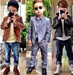 Awwww.... love this Lil boys style. Too cute