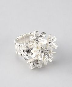 Take a look at this Crystal Bouquet Ring by Something Sparkly: Cocktail Rings on #zulily today!