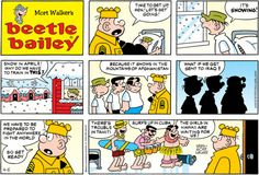 """Beetle Bailey,"" a comic strip by Mort Walker, debuts in newspapers Old Comics, Funny Comics, Mort Walker, Beetle Bailey, Calvin And Hobbes, Tarzan, Comic Strips, The Funny, Comic Books"