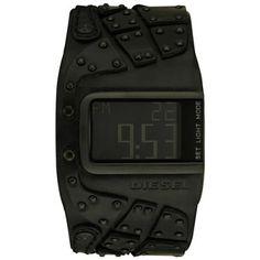Montre Homme Diesel - DZ7066 - Quartz digitale - Large bracelet en Cuir noir