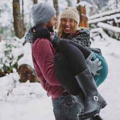 Jon and Whit share a love of the outdoors and each other! Their gorgeous winter engagement photos, by Bethany Small, are breathtaking.