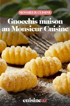Avec notre recette au Monsieur Cuisine, c'est facile de réaliser des gnocchis maison. #recette#cuisine#gnocchis#pates #robotculinaire #MonsieurCuisine #pommedeterre