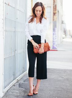 How to wear culottes, styling culottes, culottes, what to wear with culottes