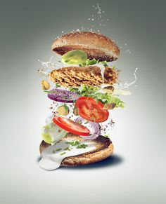 chicken burger deconstructed