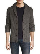 Wool Shawl Donegal Cardigan
