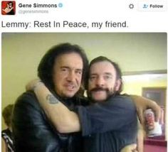 Gene Simmons and Lemmy from Motorhead Steven Tyler, Best Rock Bands, Cool Bands, Motorhead Ace Of Spades, Hot Band, Gene Simmons, Judas Priest, Music Photo, Van Halen