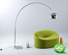Stehlampe Bogenlampe CURVE 195 cm von www.qubo-design.de