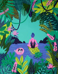 Float On   kim sielbeck illustration