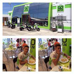 Having lunch, MotoGP style!