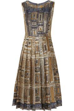 Rochas|Metallic brocade dress