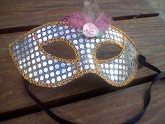 Feather Rose Masquerade Venetian Mask by TheSerendipitousFind on etsy.
