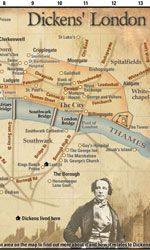 Dickens London Map on David Perdue's Charles Dickens page