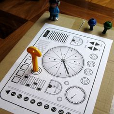 Cool printable spaceship control panel. Great for cardboard box space ships  1dashboard2