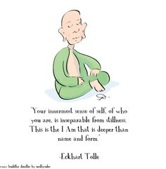 Your innermost sense of self of who you are is inseparable from stillness. This…  #eckharttolle #eckharttollequotes #kurttasche