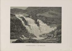 Norge fremstillet i Tegninger - Georg Saal - Vermedalsfos i Romsdalen. jpg (6080×4360)