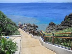 Maeda Point, the stairs from hell.  Helps build character after a long dive:)