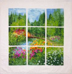A simple yet stunning wall hanging. Perfect for any season. Window Landscape Quilt Pattern QCD-T105 by The Quilting Cupboard - Ann Kisro.  Check out our seasonal patterns. https://www.pinterest.com/quiltwomancom/seasonal-patterns/  Subscribe to our mailing list for updates on new patterns and sales! http://visitor.constantcontact.com/manage/optin?v=001nInsvTYVCuDEFMt6NnF5AZm5OdNtzij2ua4k-qgFIzX6B22GyGeBWSrTG2Of_W0RDlB-QaVpNqTrhbz9y39jbLrD2dlEPkoHf_P3E6E5nBNVQNAEUs-xVA%3D%3D