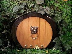 Hobbit door Faerie Door Gnome Door Elf Door Mouse by NothinButWood, $26.00